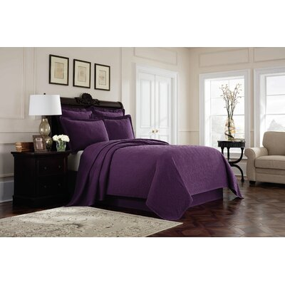 Williamsburg Richmond Bed Skirt Color: Purple, Size: King
