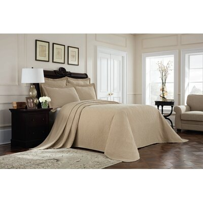 Williamsburg Richmond Bedspread Color: Linen, Size: Twin