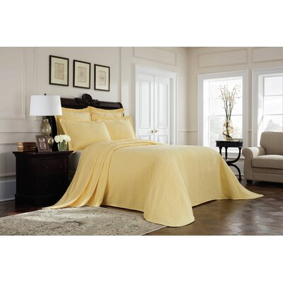 Williamsburg Richmond Bedspread Color: Yellow, Size: King