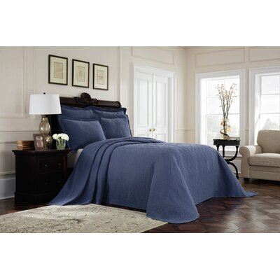 Williamsburg Richmond Bedspread Color: Blue, Size: King