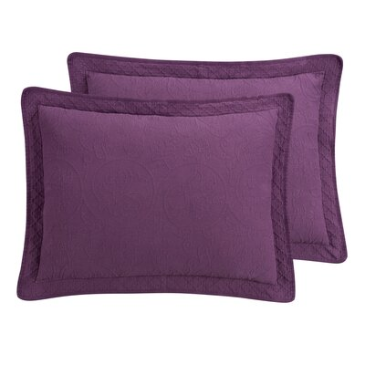 Williamsburg Richmond Sham Color: Purple, Size: Euro