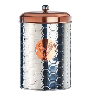 Sunshine Farm Metal Kitchen Canister Set Size: Medium