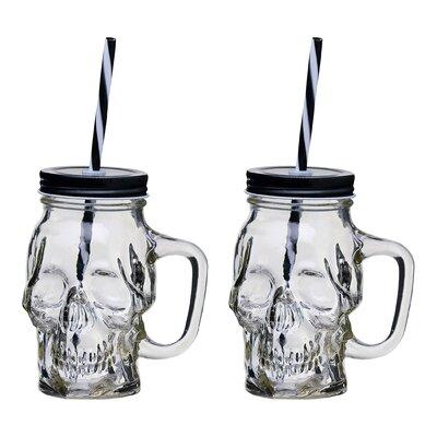Skull 16 oz. Glass Mason Jar Color: Clear THDA1737 41572187