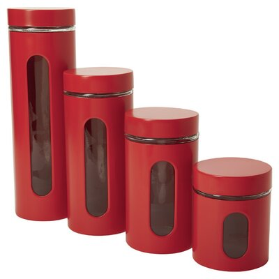 Palladian Window 4 Piece Kitchen Canister Set