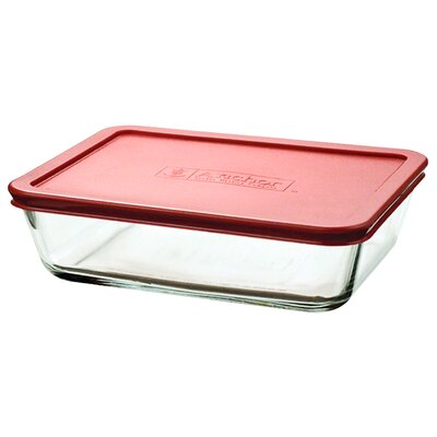 Anchor Hocking 48 Oz. Rectangular Kitchen Storage Container (Set of 4) 91551L7