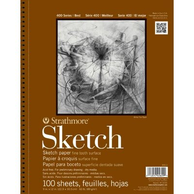 400 Series Wire Bound Sketch Pads (Set of 12) ST455-11