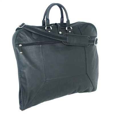 Mercury Luggage Sondrio Leather Garment Bag in Black at Sears.com