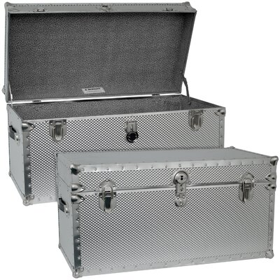 Seward Trunk Embossed Steel Storage Trunk with Locker at Sears.com