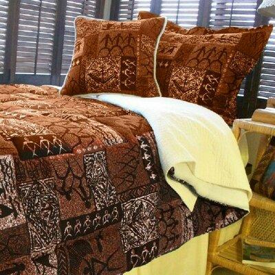 Tiki Coco Comforter Size: Queen