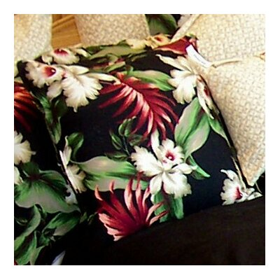 Orchids Cotton Throw Pillow
