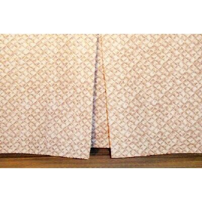 Basketweave Tailored Bed Skirt Size: King