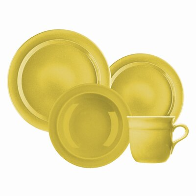 Emile Henry-gratinee Soup Bowls In Citron Yellow (set Of 4)
