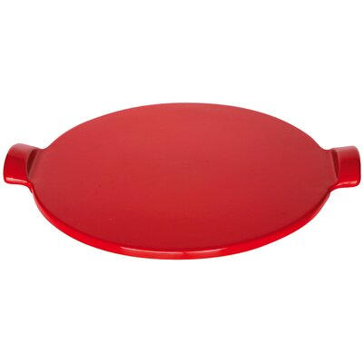 Flame Top Pizza Stone Color: Red