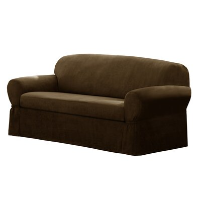 Box Cushion Sofa Slipcover Size: 34 H x 73 W x 36 D