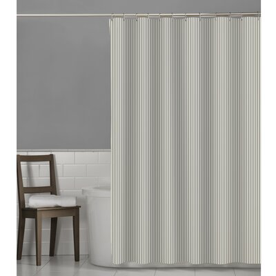 Murakami Seersucker Stripe Shower Curtain Color: Gray