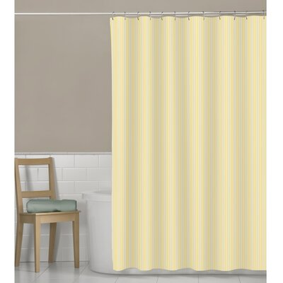 Murakami Seersucker Stripe Shower Curtain Color: Yellow