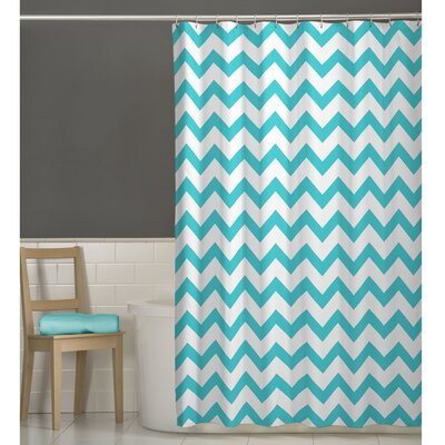 Raminez Chevron Shower Curtain Color: Aqua