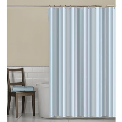 Seersucker Stripe Shower Curtain Color: Aqua