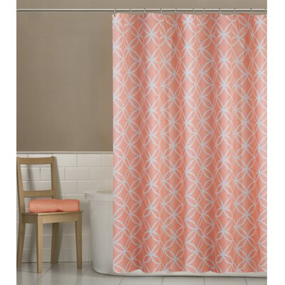 Emma Shower Curtain Color: Coral