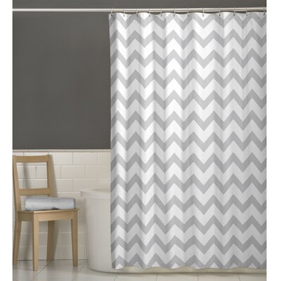Chevron Shower Curtain Color: Gray