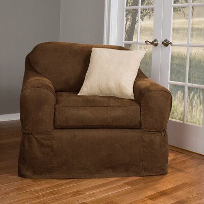 Barras Separate Seat Armchair Slipcover Upholstery: Chocolate