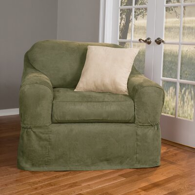 Barras Separate Seat Box Cushion Armchair Slipcover Upholstery: Sage