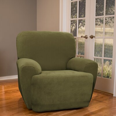 Collin Stretch Seperate Seat Recliner Slipcover Upholstery: Moss