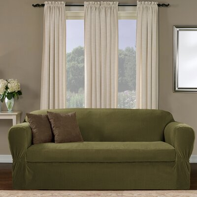 Collin Stretch Separate Seat Sofa Slipcover Upholstery: Moss
