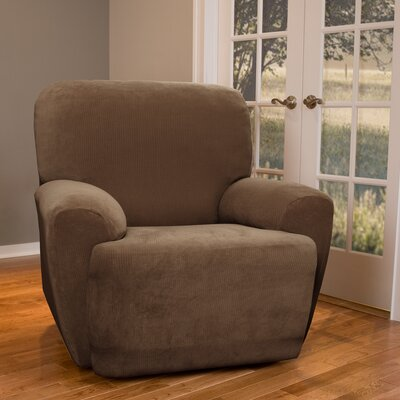 Collin Stretch Seperate Seat Recliner Slipcover Upholstery: Mocha