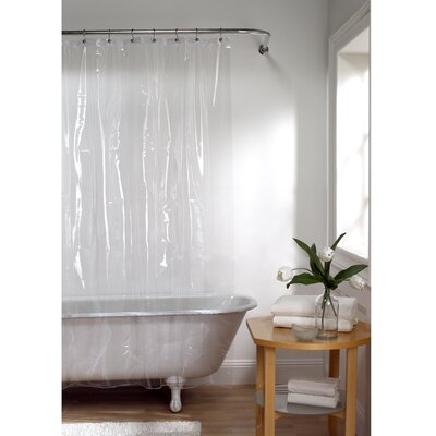 Maytex 10 Gauge Super Heavyweight Liner Vinyl Shower Curtain Color: Clear