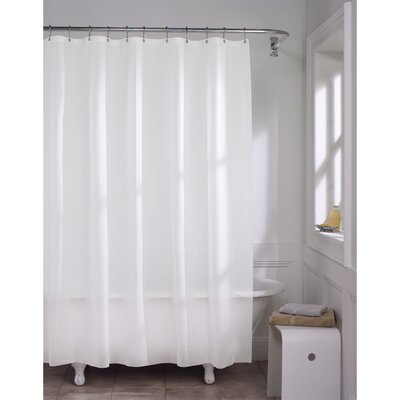 Maytex 10 Gauge Super Heavyweight Liner Vinyl Shower Curtain Color: White