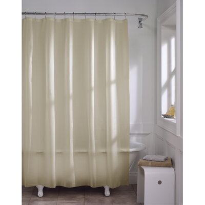 Maytex 10 Gauge Super Heavyweight Liner Vinyl Shower Curtain Color: Beige