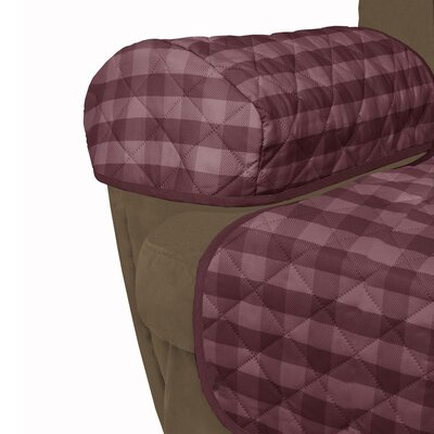 Buffalo Check Reversible Polyester Recliner Slipcover Upholstery: Burgundy