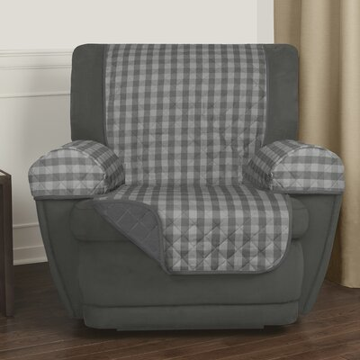 Buffalo Check T-Cushion Recliner Slipcover Upholstery: Gray