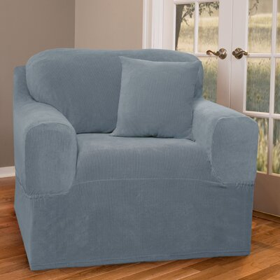Collin Stretch One Piece Armchair Slipcover Upholstery: Blue Smoke