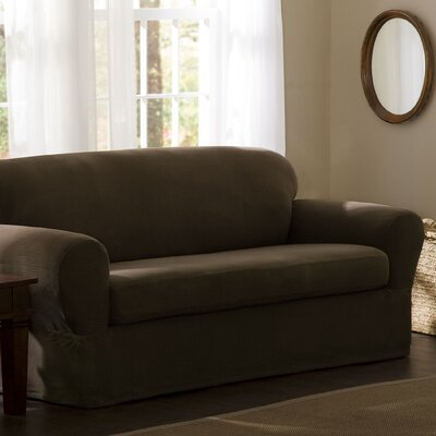 Maytex Reeves Stretch Two Piece Sofa Slipcover - Color: Chocolate at Sears.com