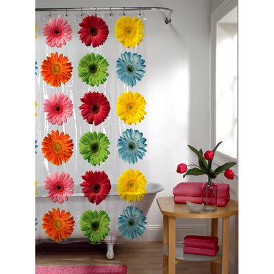 PEVA Gerber Daisy Shower Curtain