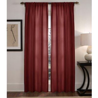 Maytex Diamond Waffle Rod Pocket Curtain Panels (Set of 2) - Color: Red
