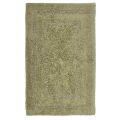Reversible Cotton Bath Rug Size: Small, Color: Bamboo
