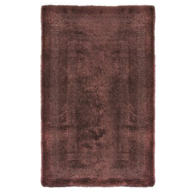 Reversible Cotton Bath Rug Size: Small, Color: Chocolate