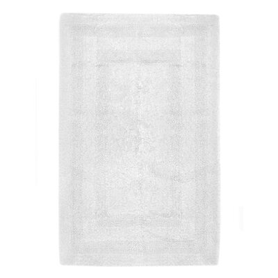 Reversible Cotton Bath Rug Size: Small, Color: White