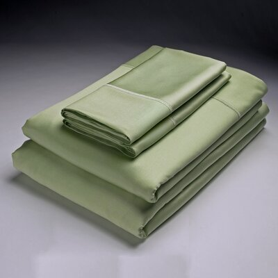 250 Thread Count Flat Sheet Size: Queen, Color: Grass
