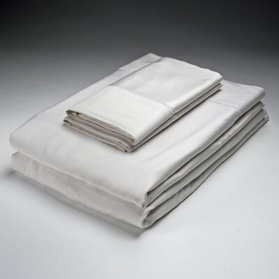 Bamboo Pillowcase Size: King Color: White image