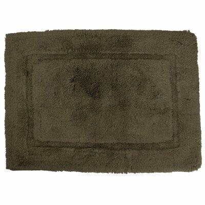 Egyptian Quality Cotton Non-Slip Bath Rug Size: Small, Color: Moss