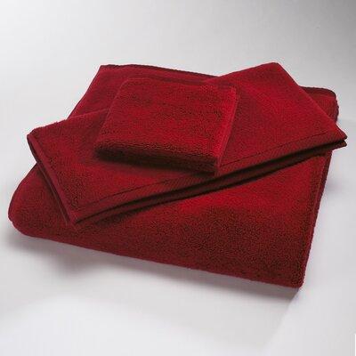 Reversible Cotton Bath Rug Size: Large, Color: Claret