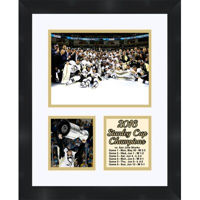 Pittsburgh Penguins Sidney Crosby Holding the 2016 Stanley Cup Collage Framed Photographic Print TP04-10-00-SCSC3