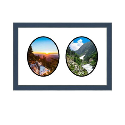 2 Opening Picture Frame Color: Blue multimat-58812-108