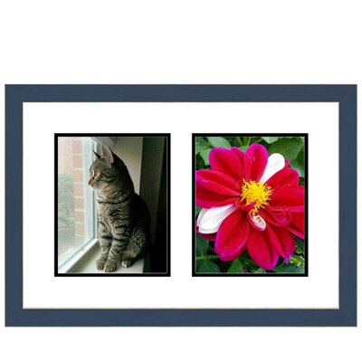 2 Opening Picture Frame Color: Blue multimat-58693-108