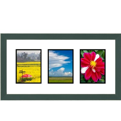 3 Opening Collage Picture Frame Color: Green