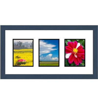 3 Opening Collage Picture Frame Color: Blue